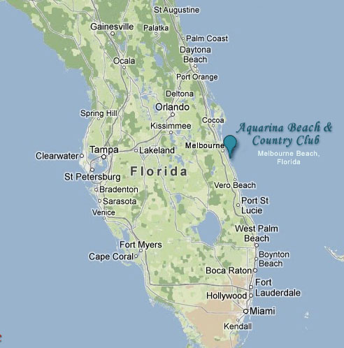 Map Of Melbourne Beach Florida.Aquarina Location Map Aquarina Beach And Country Club